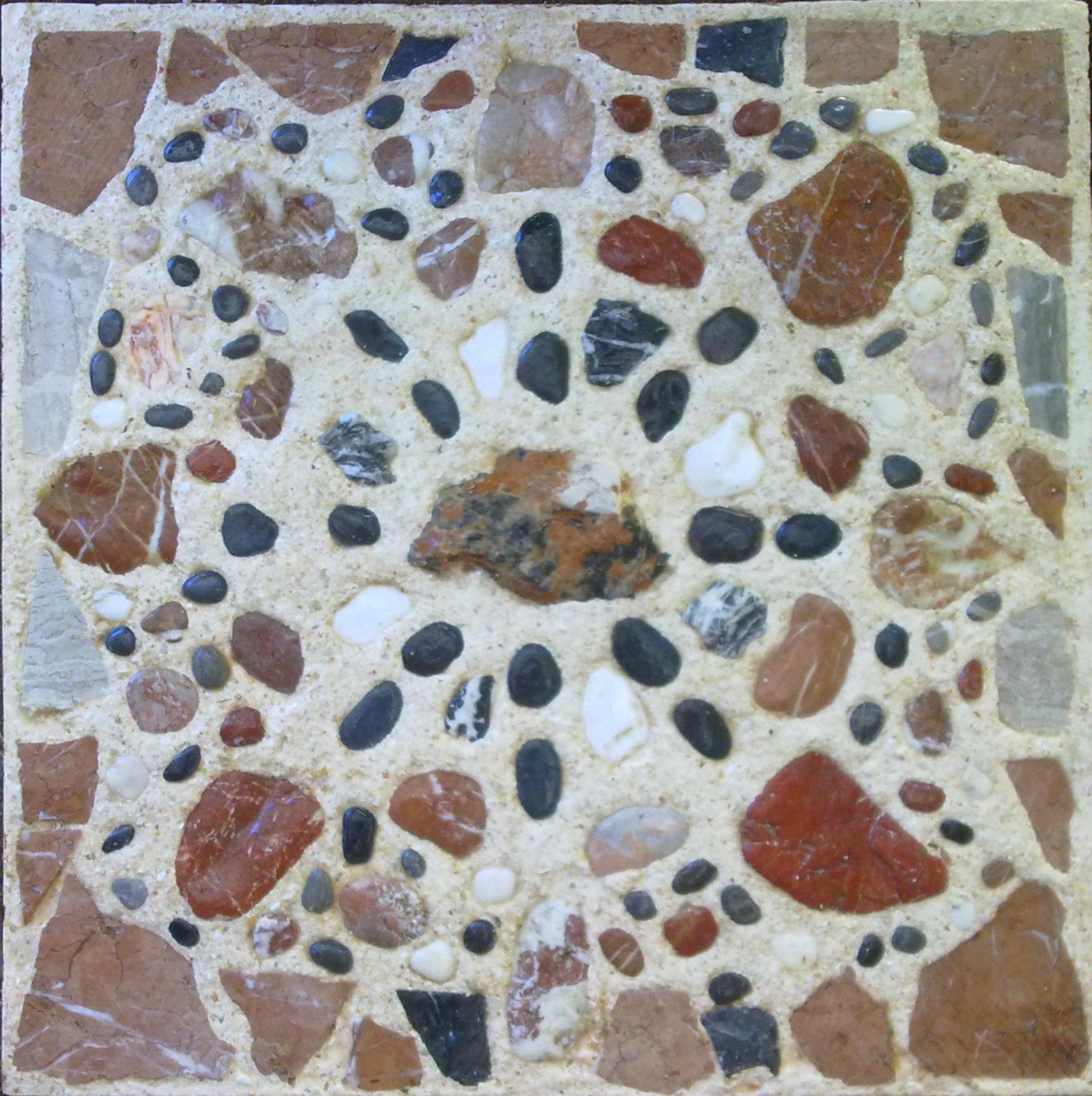 Rode Tegels Tuin.Mozaiek Karen De Vries