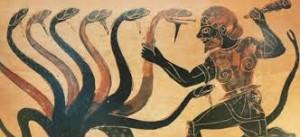 Herakles verslaat de Hydra