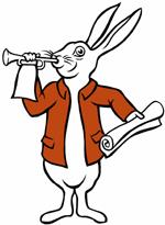 Volg het witte konijn! Huh?