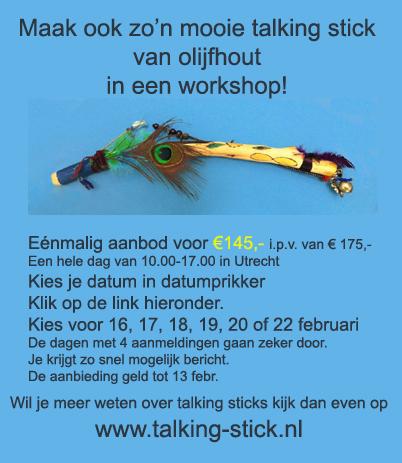 Workshop talking stick maken